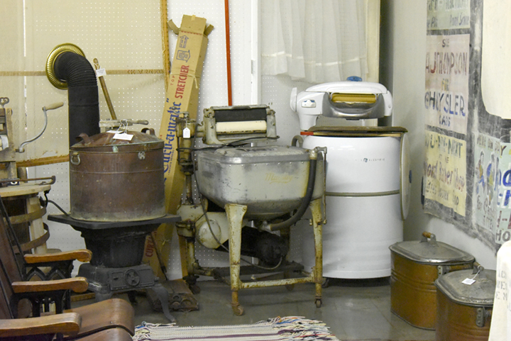 Washing machines on display at the Dunn County Museum