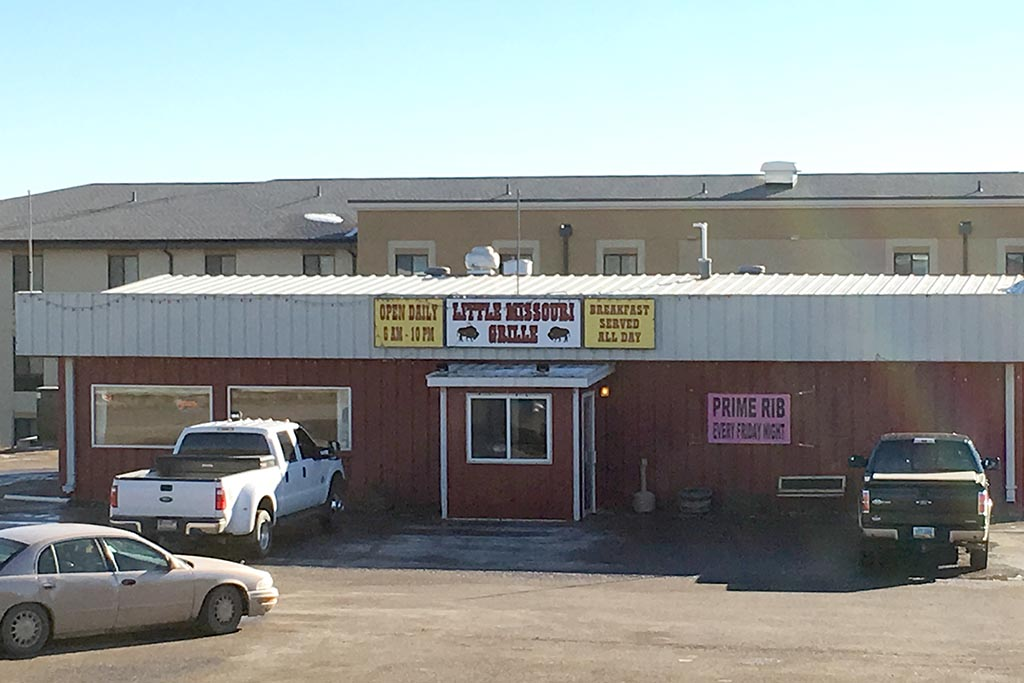 Exterior of Little Missouri Grill in Watford City.