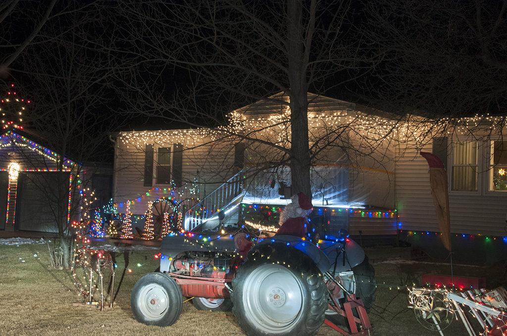 Dickinson ND downtown Christmas lights
