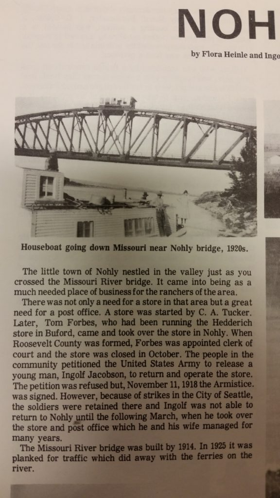 "Back in ""the day,"" The Nohly/Snowden Bridge  Snowden Bridge ferry about to go out of business in this Throwback Thursday."