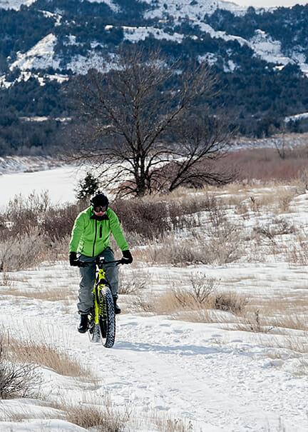 Poco Frio Rio a good race in the badlands through the snow