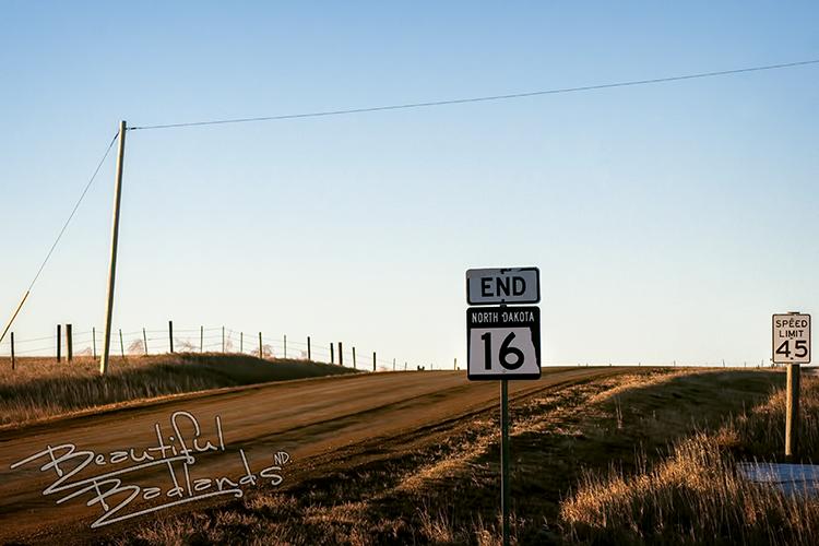 Highway 16 ends