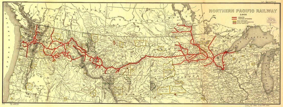 1900 Northern Pacific Railroad map