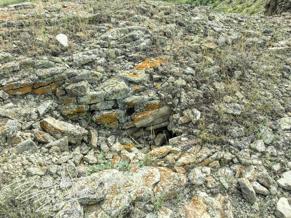 snake den in the rocks on Sentinel Butte