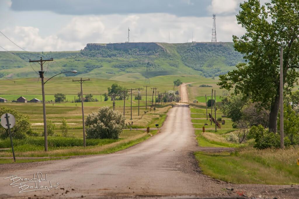 Sentinel Butte gravel road