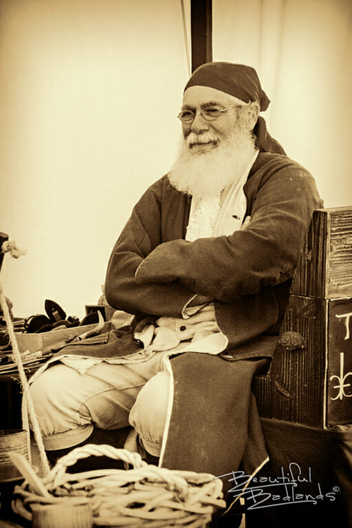 black and white trader bearded man