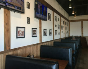 Comfortable Booths at American Smoke Wagon BBQ