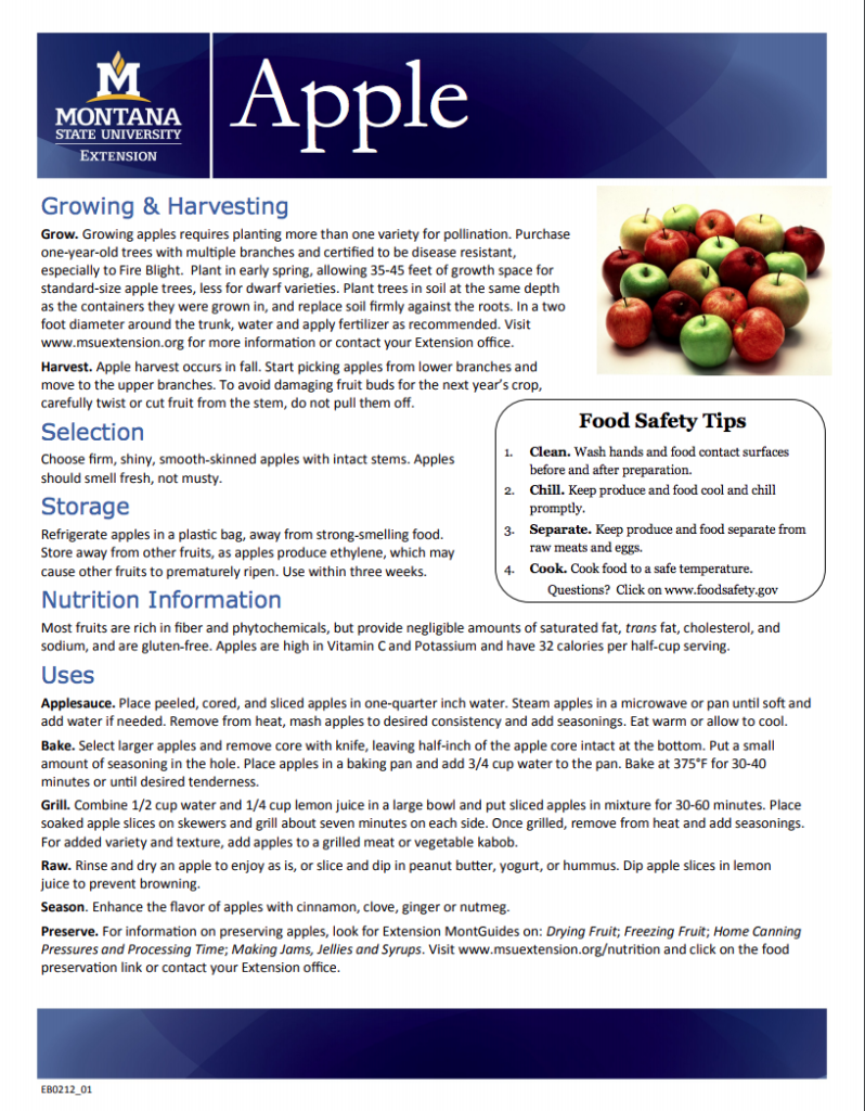 Check out these tips about apples from Montana State University
