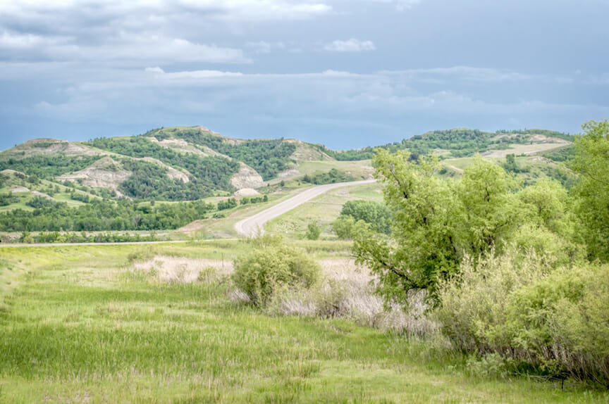 The top of North Dakota Scenic Highway 22 — the Mandan Hidatsa Arikara nation