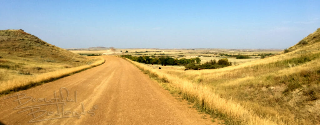 gravel road across the prairie on the way to Elkhorn