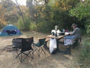 Elkhorn campsite in the North Dakota Badlands