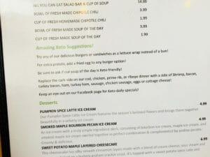 Keto, vegan, and vegetarian options are offered at Metanoia Restaurant in Watford City, North Dakota.