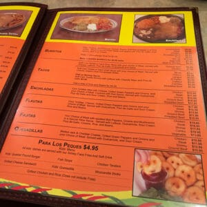 The Los Compadres' menu boasts extensive offerings.