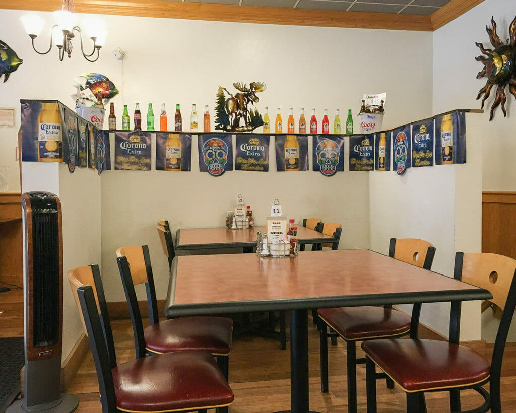 Table seating at Los Compadres can accommodate small groups.  The booths are spacious.