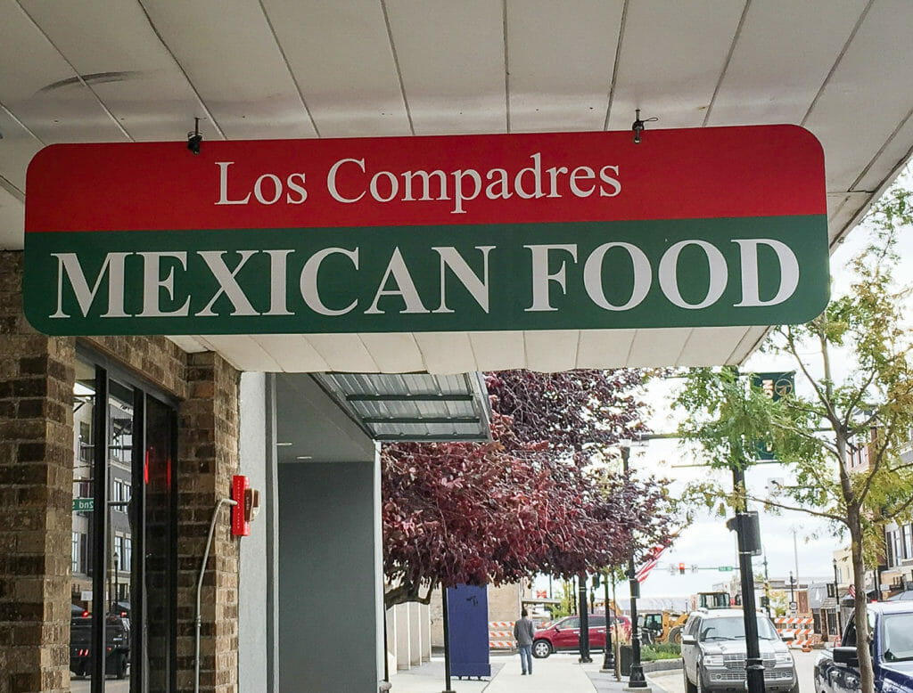 Los Compadres and Mexican Food.   This is a great place to meet your friends, and eat authentic Mexican Food!