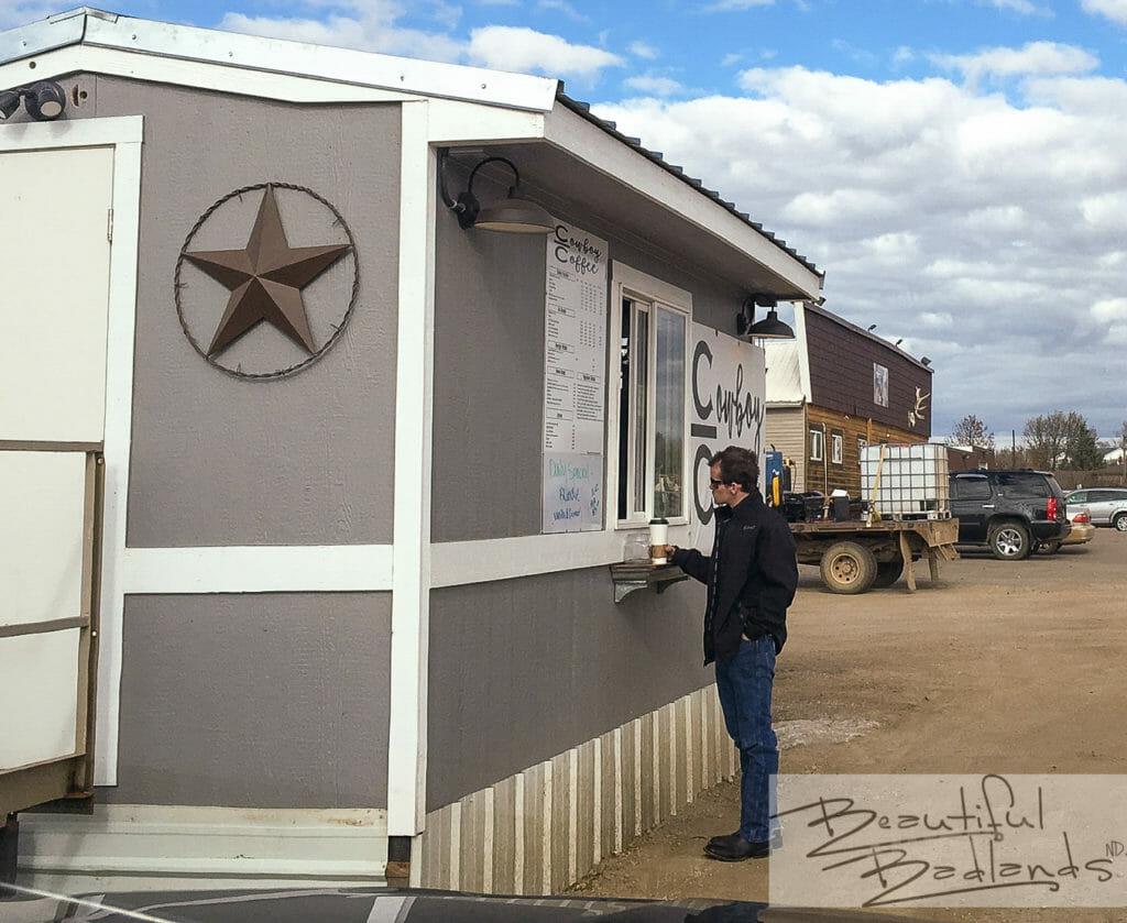 Walk up or drive up to Cowboy Coffee in Killdeer, North Dakota.