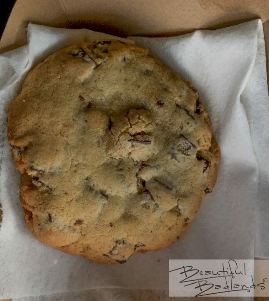 The cookies are huge at Cowboy Coffee in Killdeer, North Dakota. The taste? Excellent!