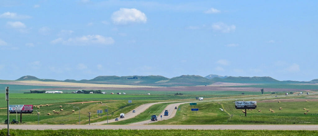 Exit One. North Dakota!
