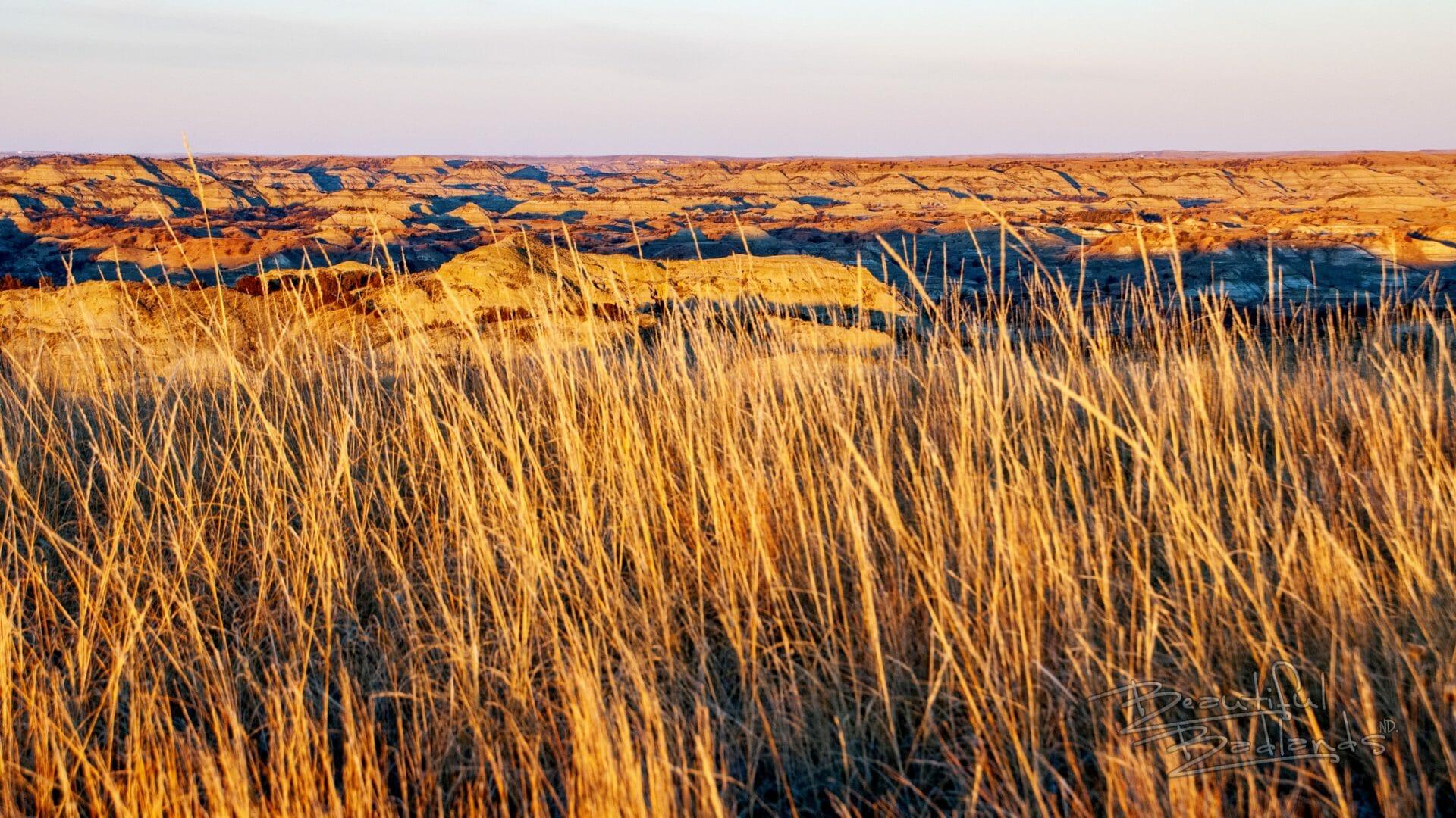 golden hour badlands hills