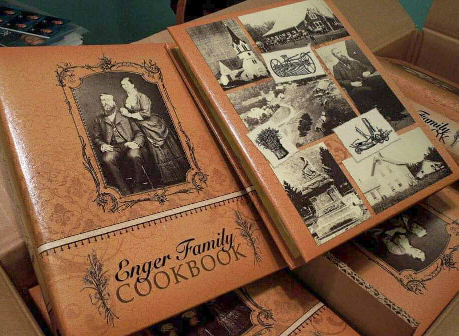 A Cookbook to Pass Along Family History. Enger Family Cookbook.