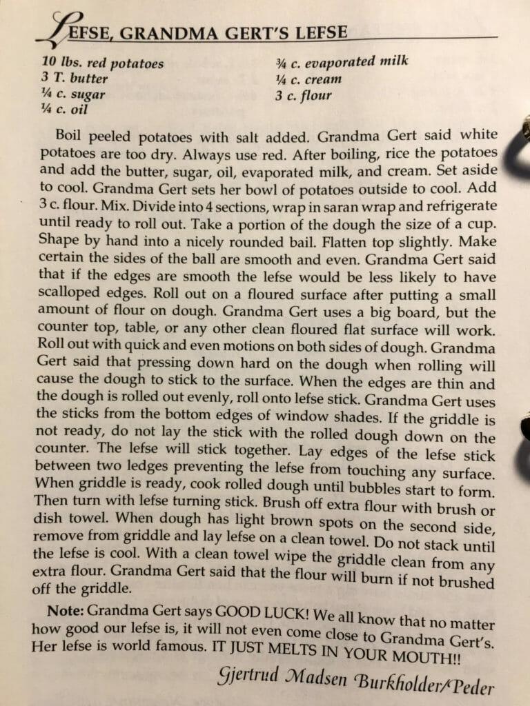 Grandma Gert's Lefse