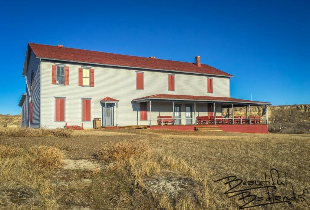 Chateau de Mores, south side with porch, Medora
