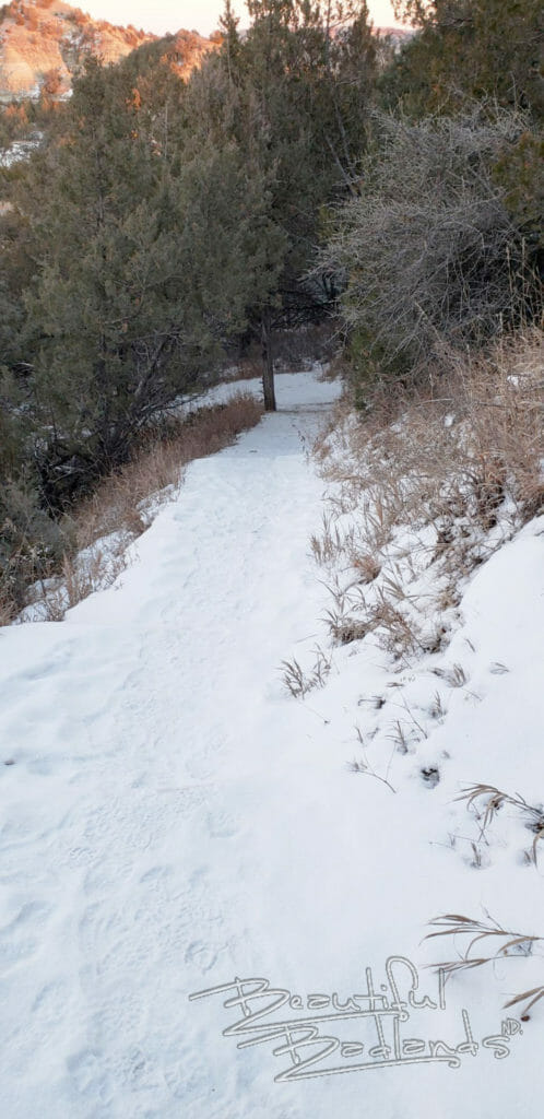 snow covered ridgeline trail