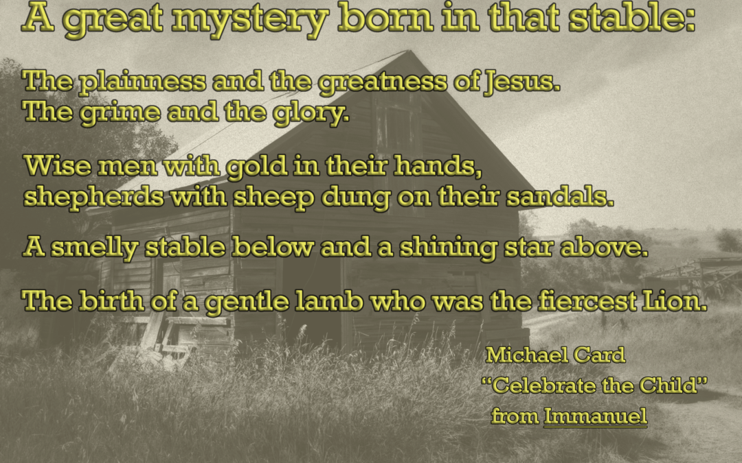 A great mystery, Immanuel — Inspiration from the North Dakota Badlands