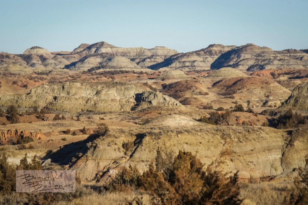 Mid December in the Badlands of North Dakota