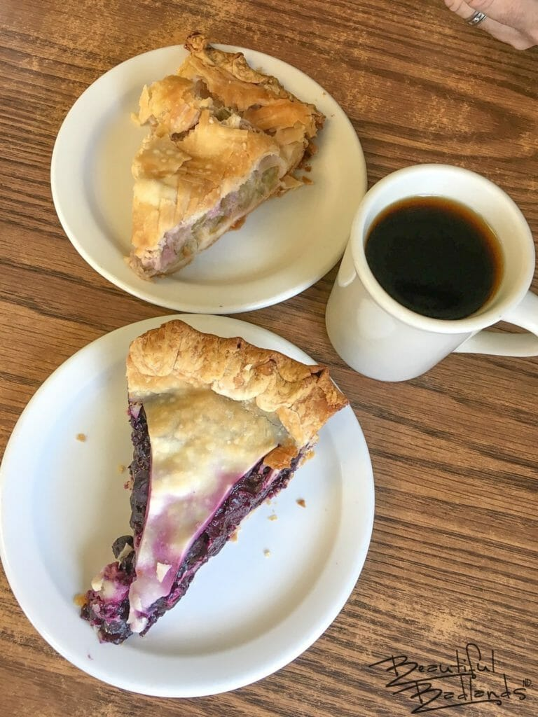 Pie at Four Corners Cafe