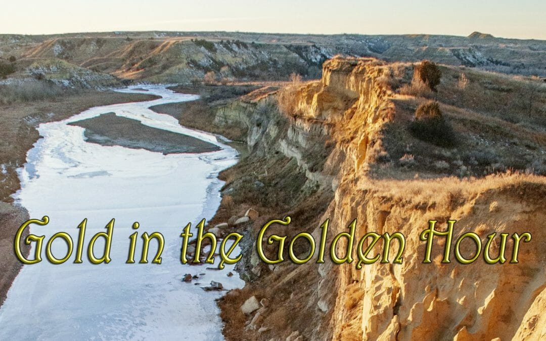 Thar's gold in them thar hills along the Little Missouri River — Saturday Snapshot