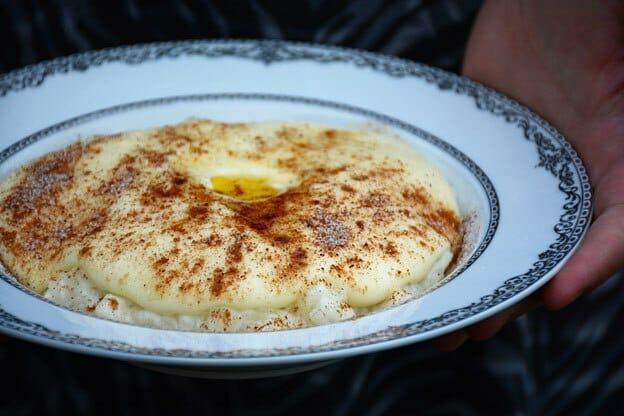 Rommegrot. Traditional Norwegian Cream Pudding. Find the recipe for this Rommegrot here: http://nordicdiner.net/en-slags-reiseguide-til-rolloya/rommegrot/