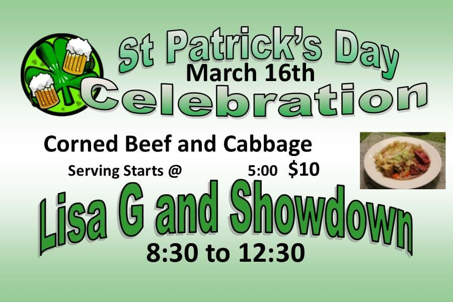 Corned Beef, Cabbage, and Music at DC Pub & Grub, Dunn Center, North Dakota