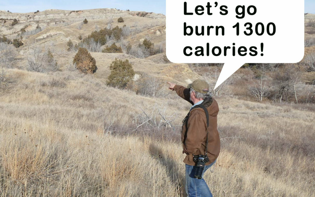 Burn 1300 calories with 2 hours in the Badlands