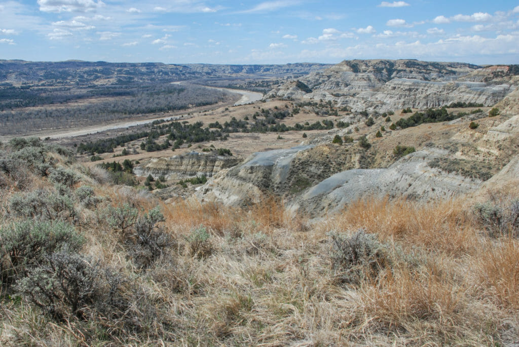 Overlooking the Little Missouri River Theodore Roosevelt National Park, north unit
