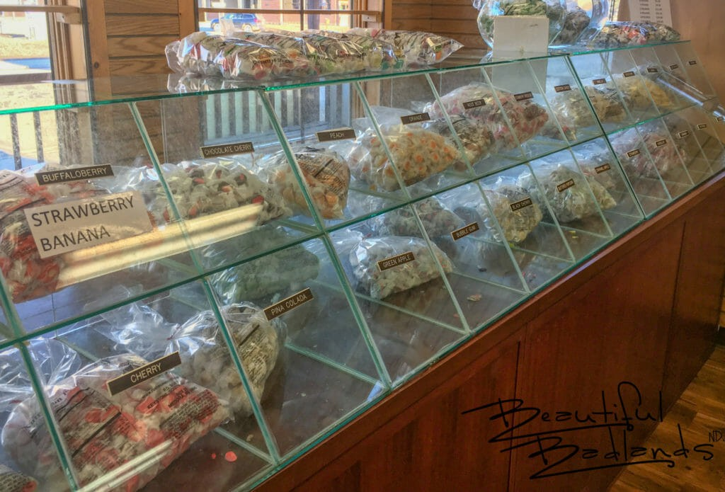 Twenty Five + Flavors! Rushmore Mountain Taffy, Medora, North Dakota