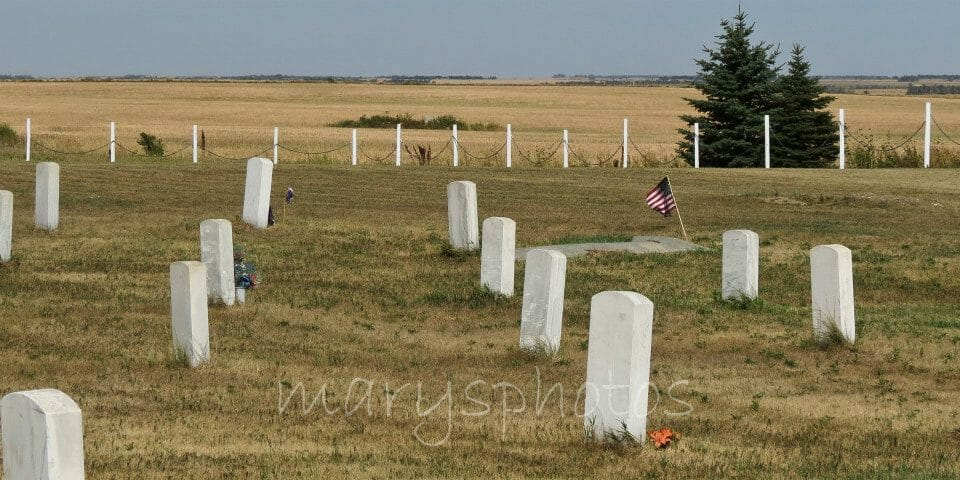 Lonesome at the Old Scout Cemetery of North Dakota