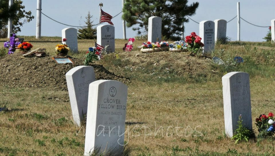 Never Forgotten at the Old Scout Cemetery, White Shield, North Dakota