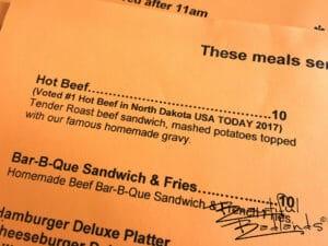 Hot Beef Sandwiches! Some of the Best at Cowboy Cafe, Medora, North Dakota