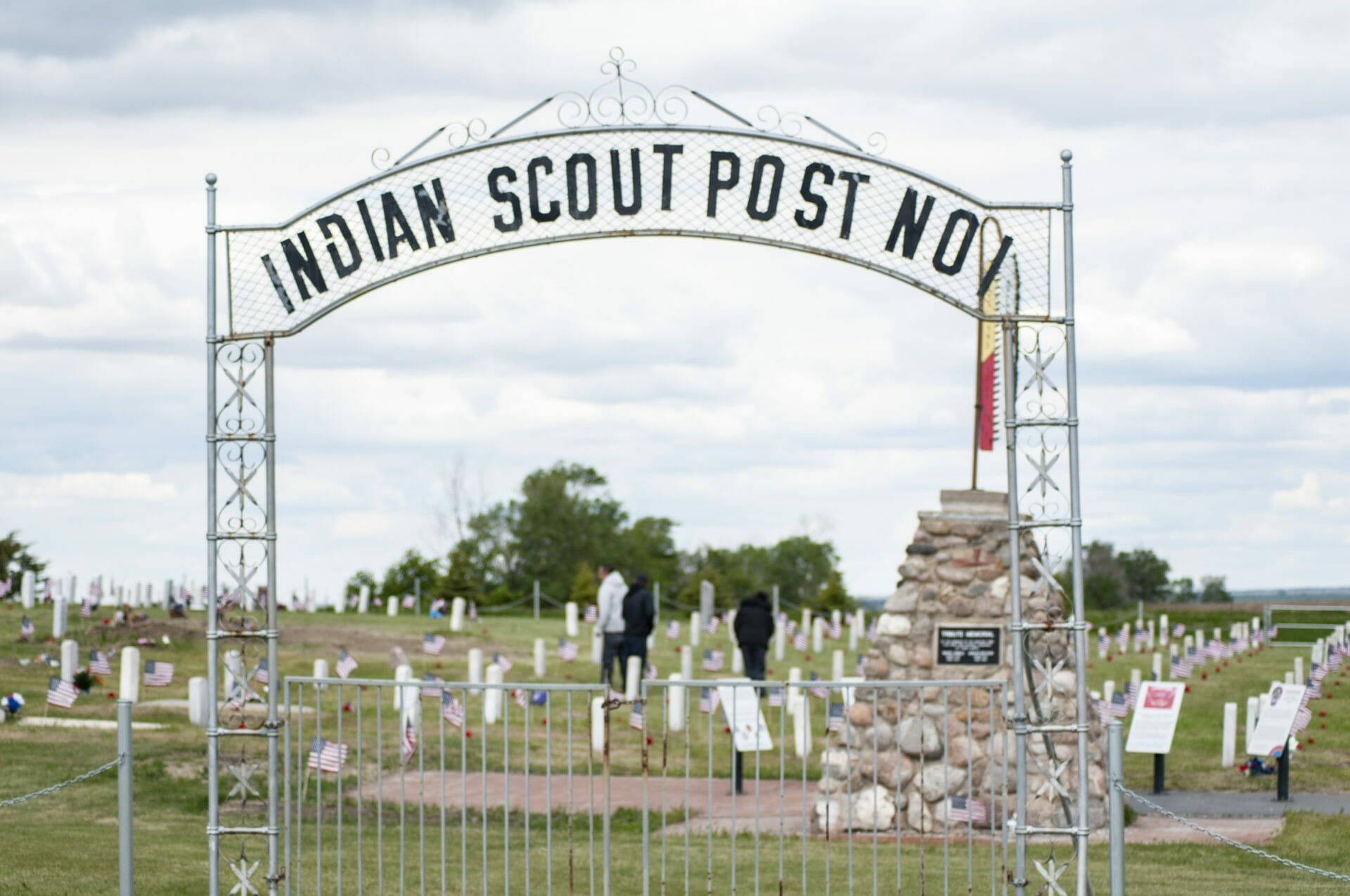 old scout cemetery gate
