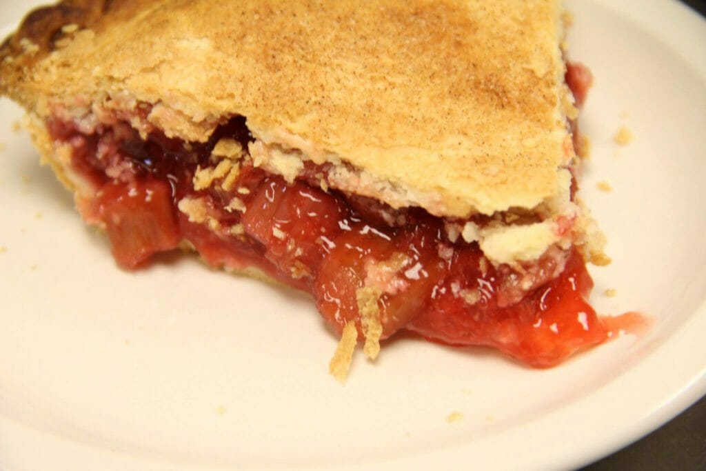 Rhubarb Pie from Dakota Farms Restaurant, Williston (photo courtesy Facebook)
