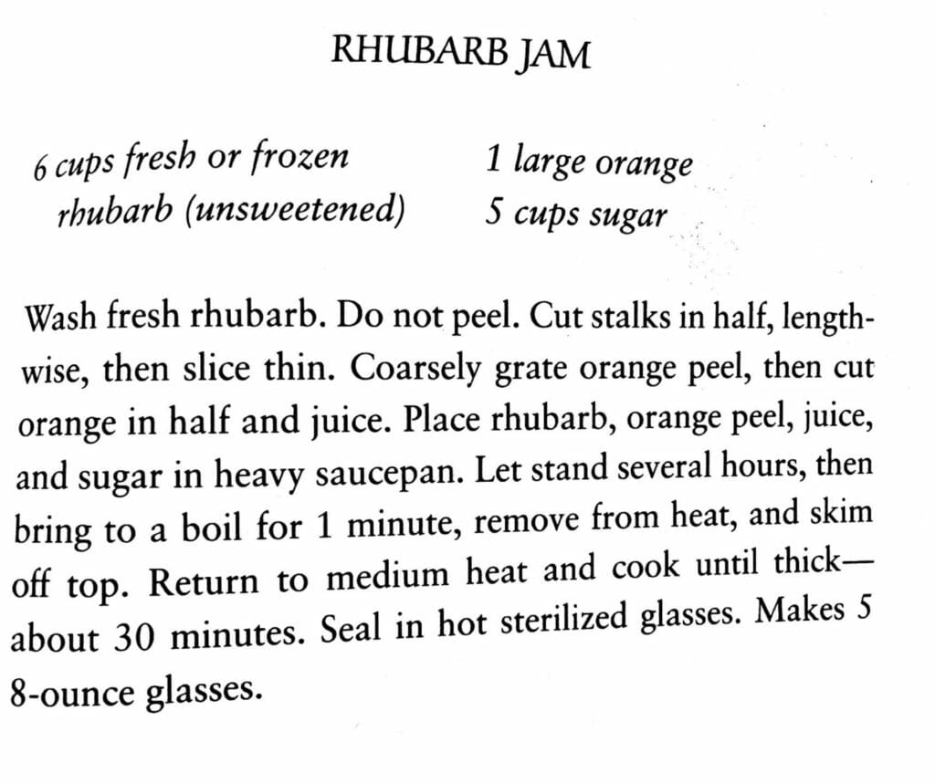 Rhubarb Jam, Prairie Cooks