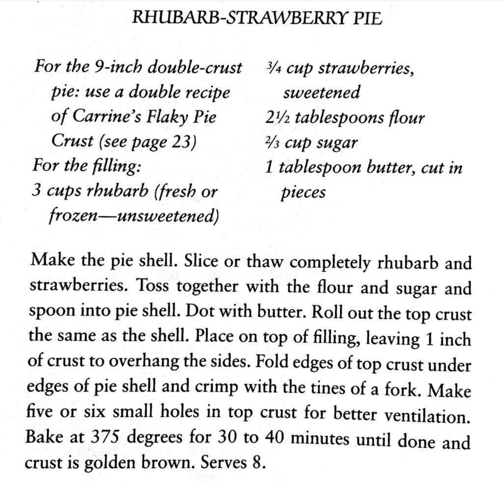 Rhubarb-Strawberry Pie, Prairie Cooks