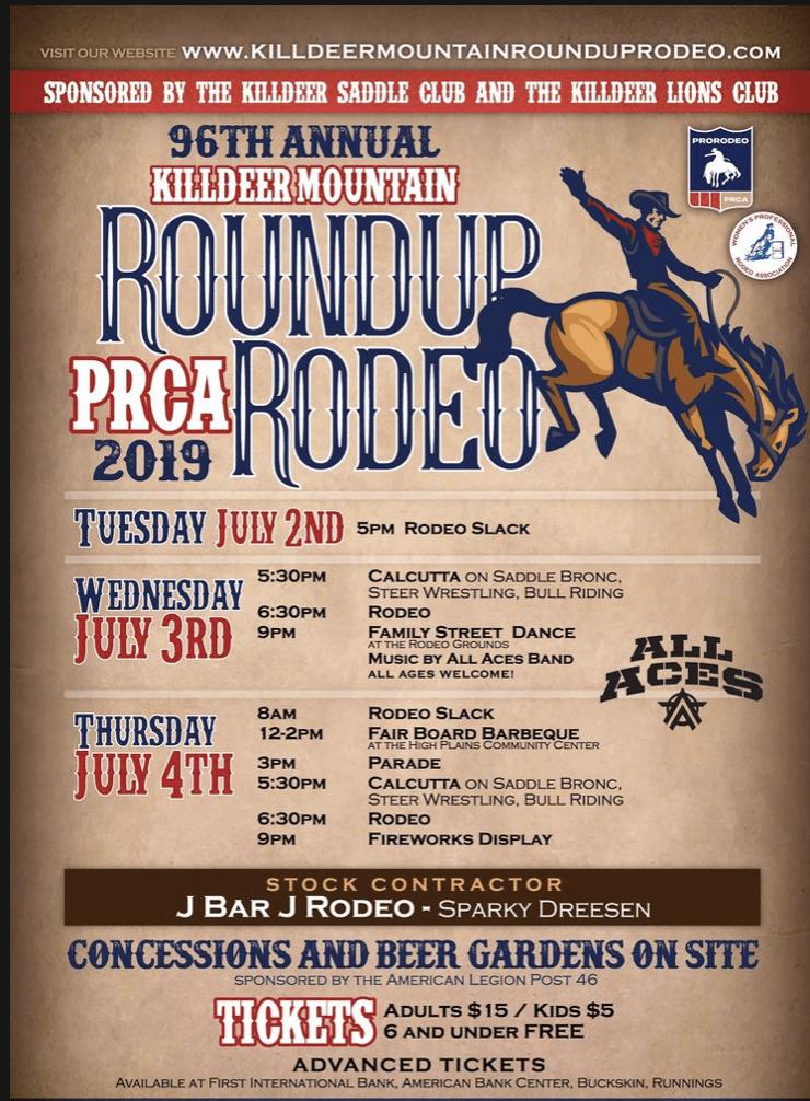 Killdeer Mountain Roundup Rodeo!   Killdeer, North Dakota