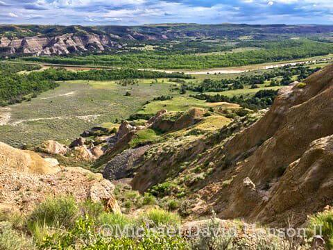 Brilliant Greens of the North Dakota Badlands, Snap Shot Saturday!