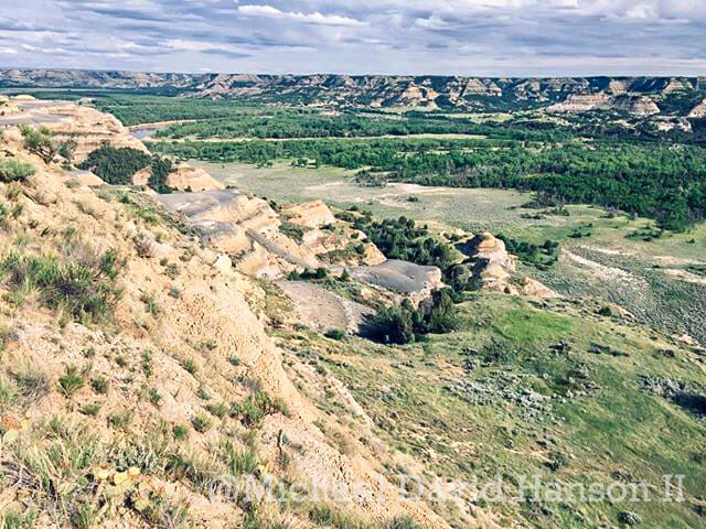 Little Missouri River at Theodore Roosevelt National Park, North Unit by Michael David Hanson II