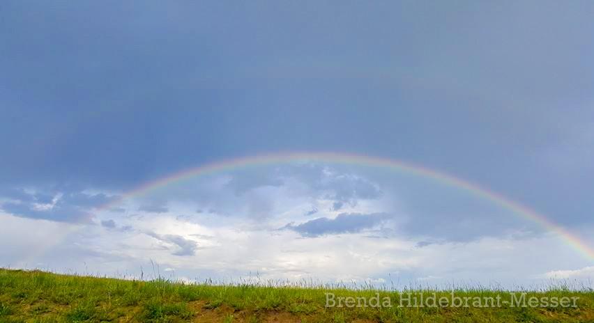 Rainbow Hugging the Horizon in the Badlands of North Dakota, by Brenda Hildebrant-Messer