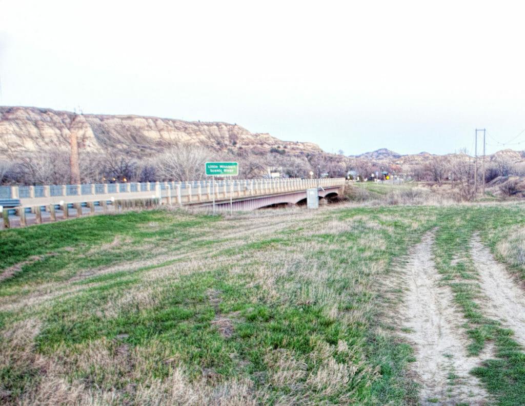 Medora, Old Highway 10, Little Missouri River bridge