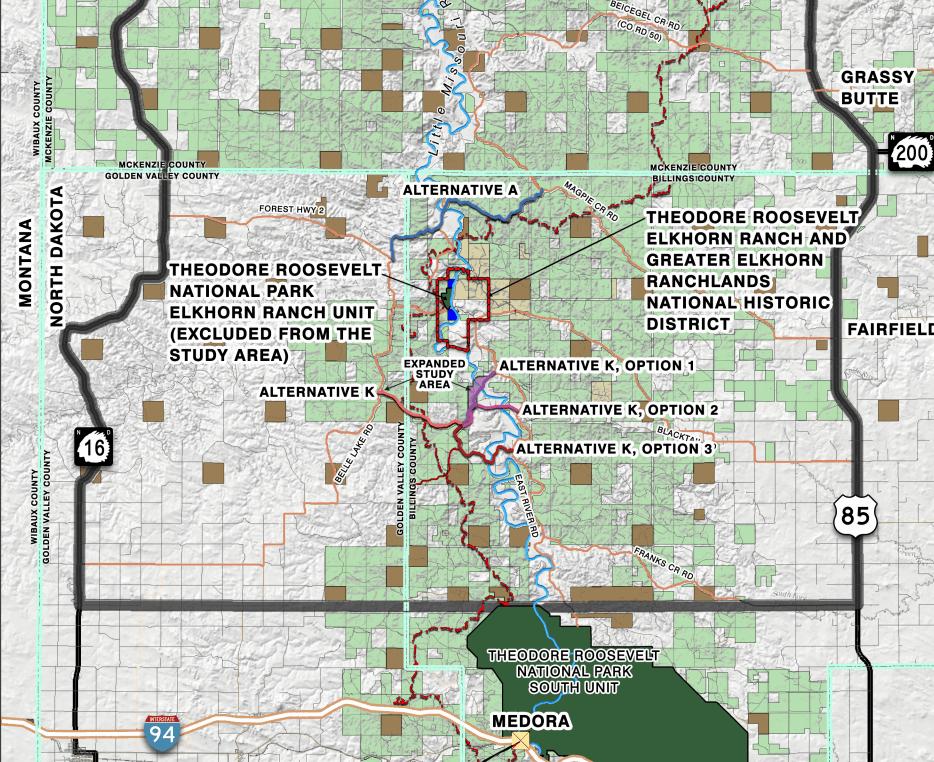 Little Missouri River crossing map