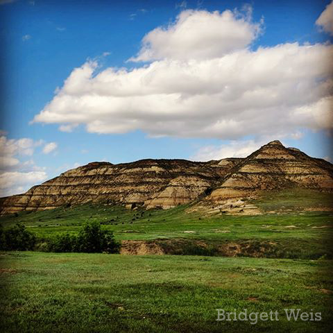 Summer Skies Over Theodore Roosevelt National Park in North Dakota, by Bridgett Weis. June 2019